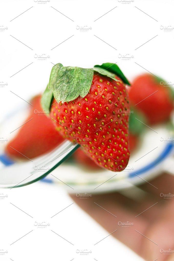 fresh strawberrys over white 10.jpg - Food & Drink