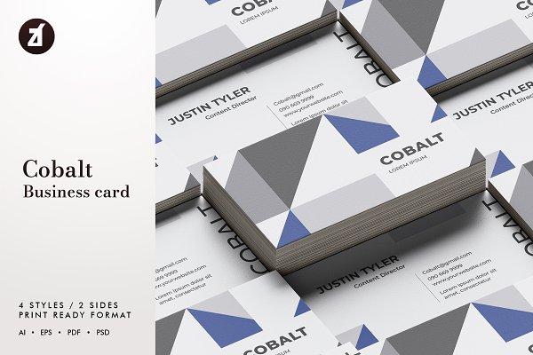 Cobalt - Business card template