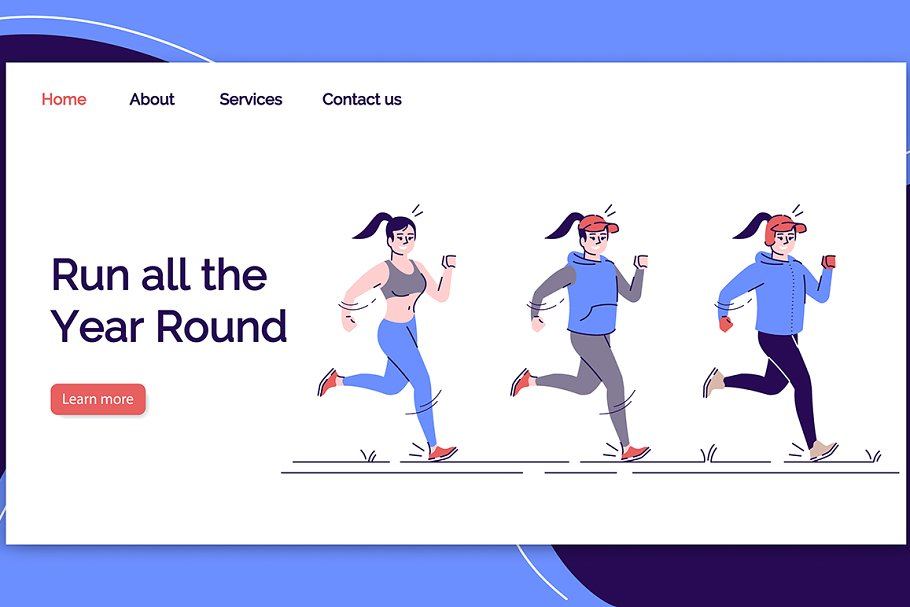 Run all the year round landing page