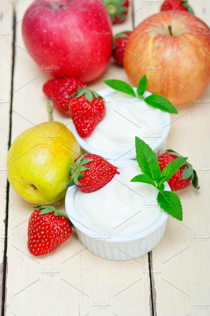 fresh fruits and organic yogurt 001.jpg - Food & Drink