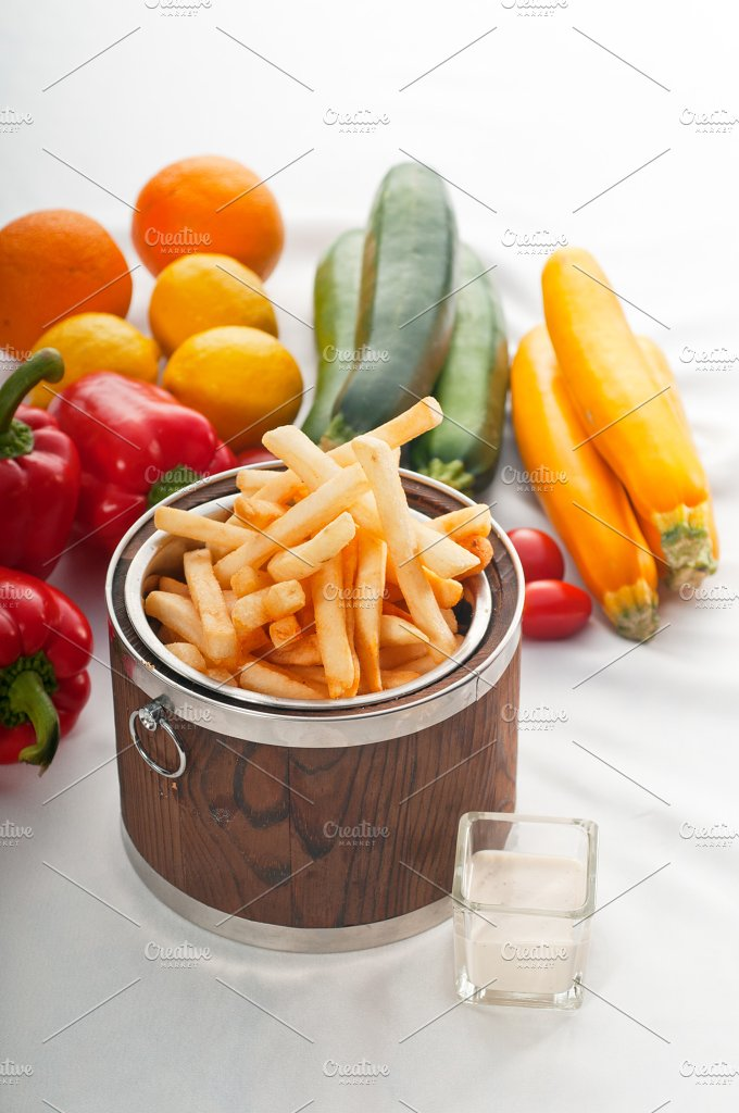 french fries on a bucket 04.jpg - Food & Drink