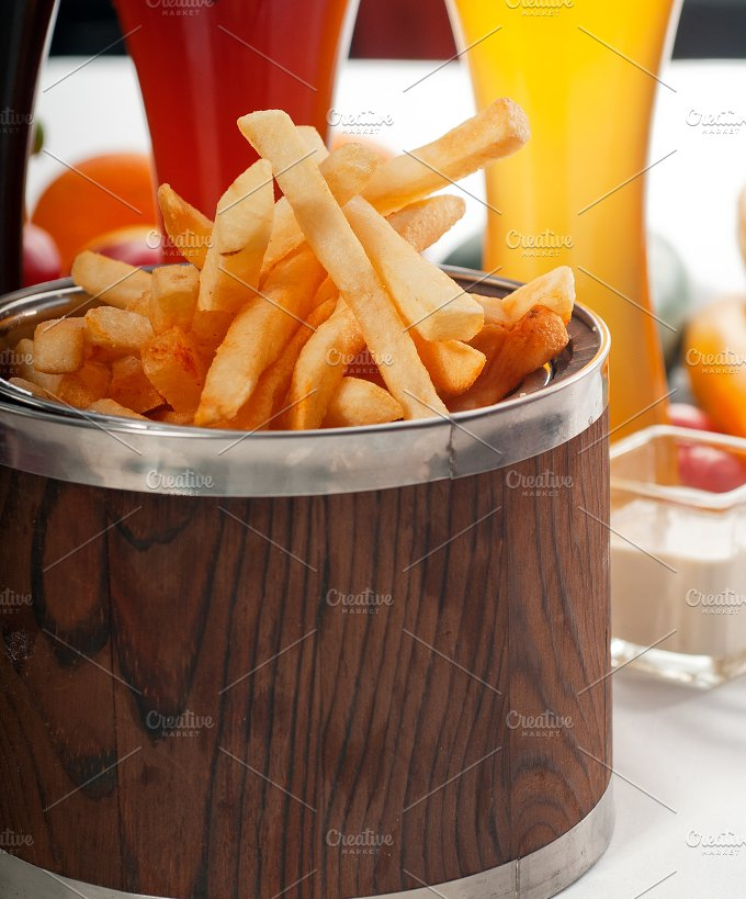 french fries on a bucket 08.jpg - Food & Drink