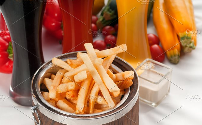 french fries on a bucket 10.jpg - Food & Drink