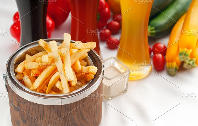 french fries on a bucket 13.jpg - Food & Drink