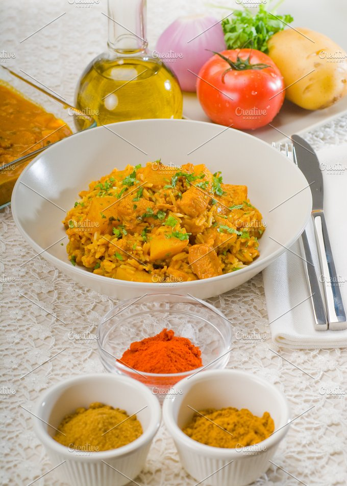 curry beef rice and potatoes 13.jpg - Food & Drink