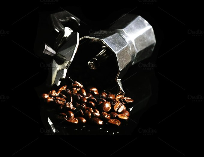 coffee beans and mocha machine.jpg - Food & Drink