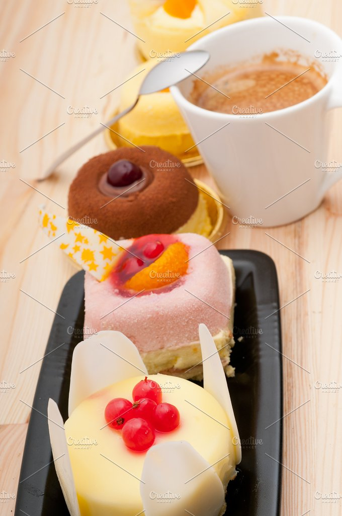 coffee and fruit dessert pastry cake 11.jpg - Food & Drink