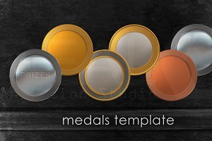 medals template series png format