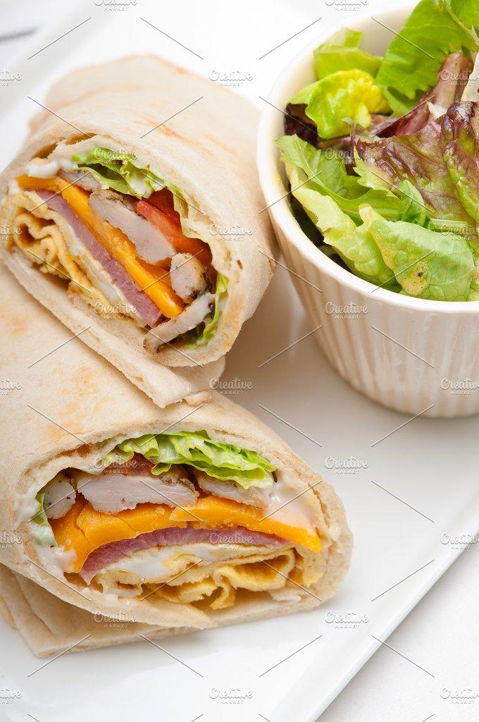 club pita wrap sandwich 05.jpg - Food & Drink