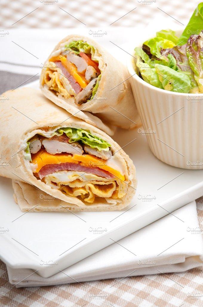club pita wrap sandwich 04.jpg - Food & Drink