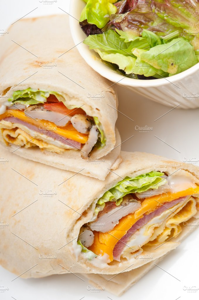 club pita wrap sandwich 06.jpg - Food & Drink