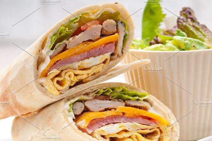 club pita wrap sandwich 13.jpg - Food & Drink