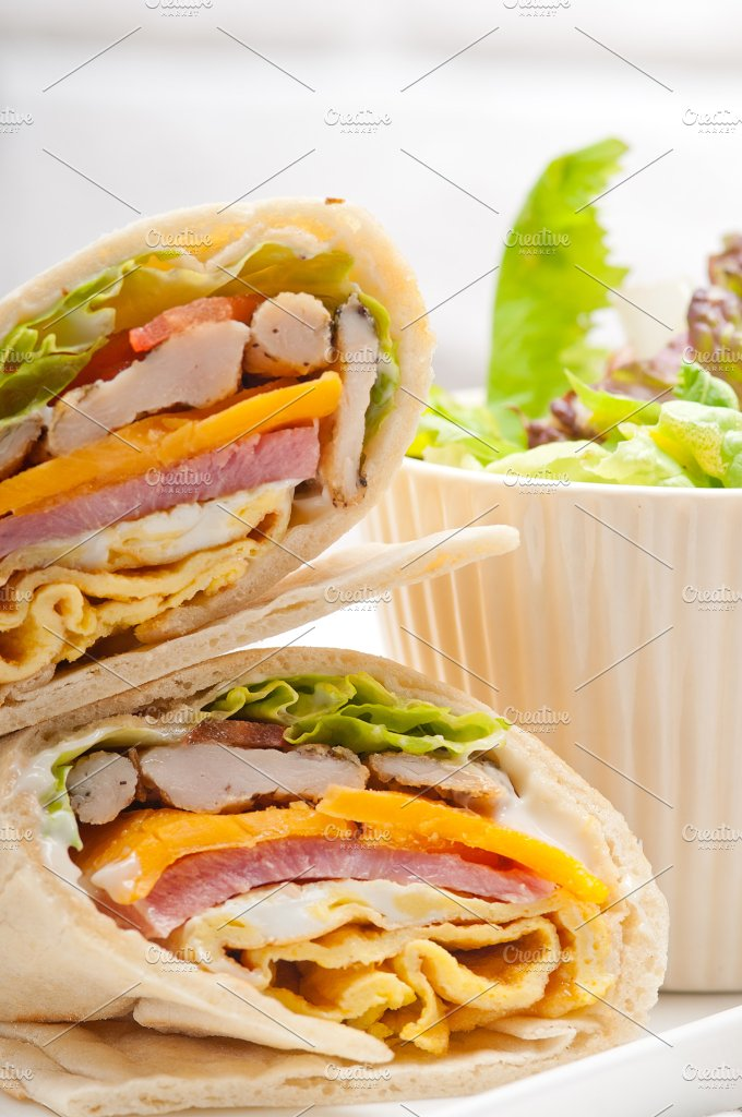 club pita wrap sandwich 14.jpg - Food & Drink
