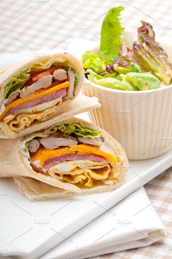club pita wrap sandwich 15.jpg - Food & Drink