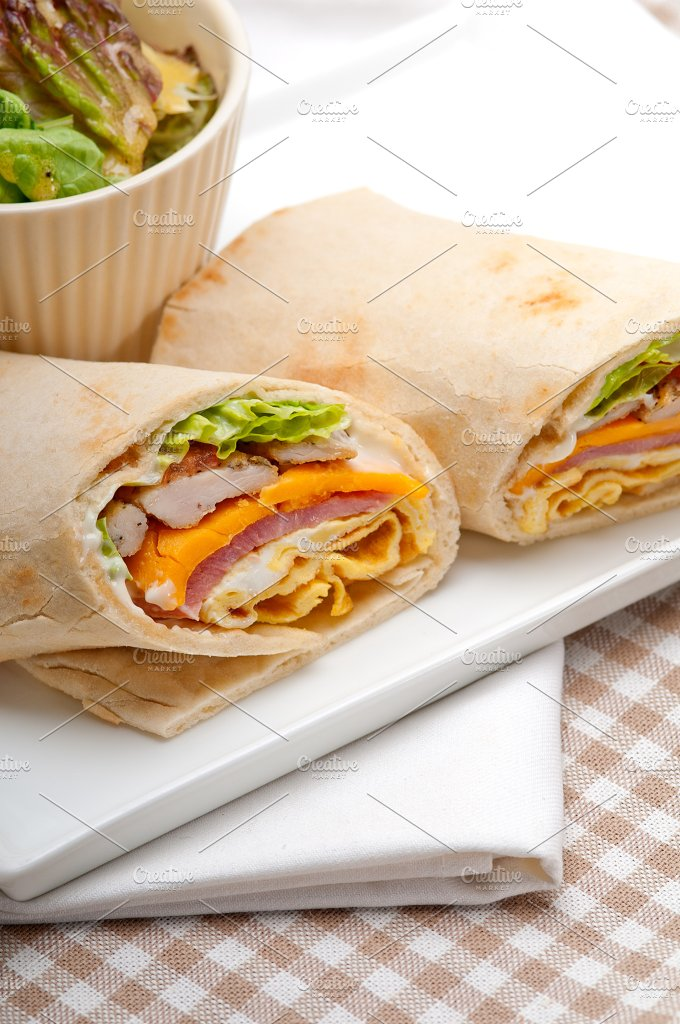 club pita wrap sandwich 20.jpg - Food & Drink