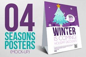 4 Seasons Posters (Mock-Up)