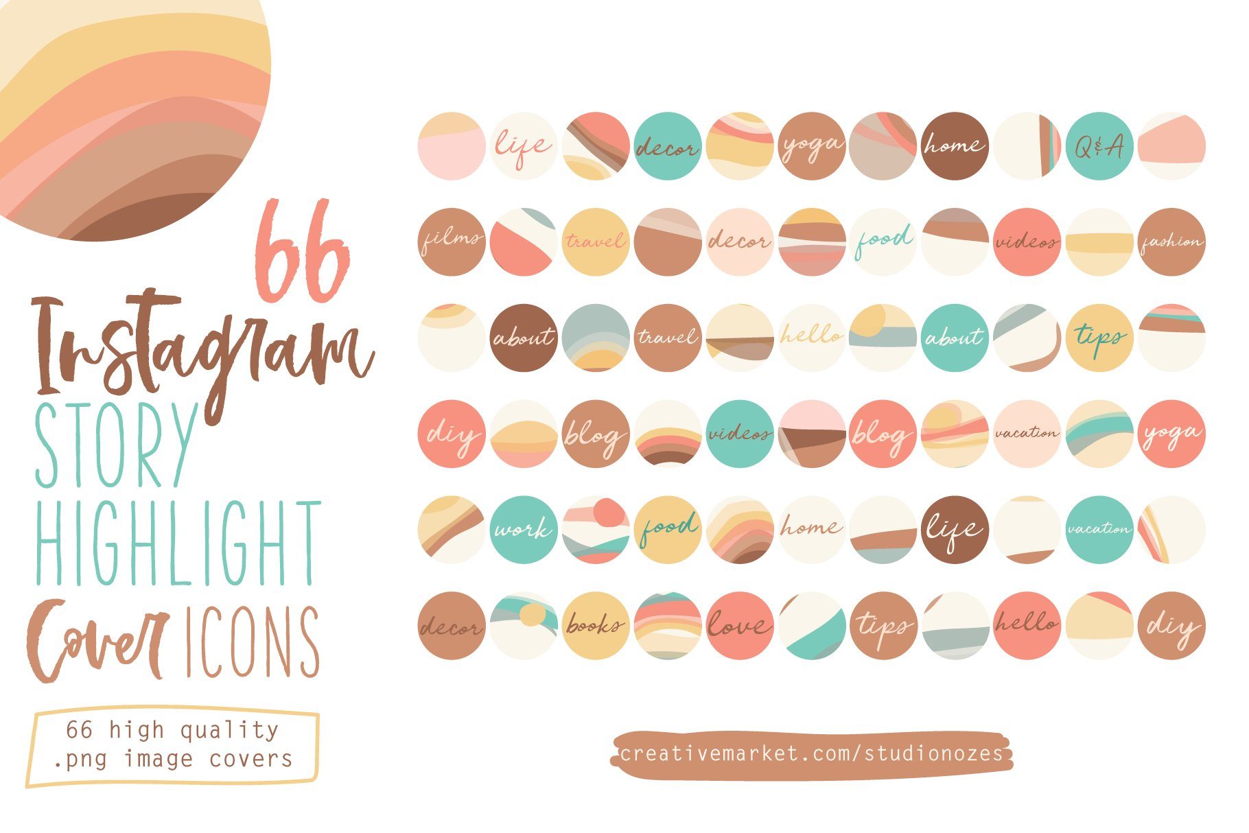 66 Instagram Story Highlight Covers Custom Designed Icons Creative Market Abstract lines bohemian highlights boho highlights boho icons boho style cover feminine icons hand drawing hand drawn handmade highlights illustration instagram highlights neutrals photoshop une line drawing. 66 instagram story highlight covers