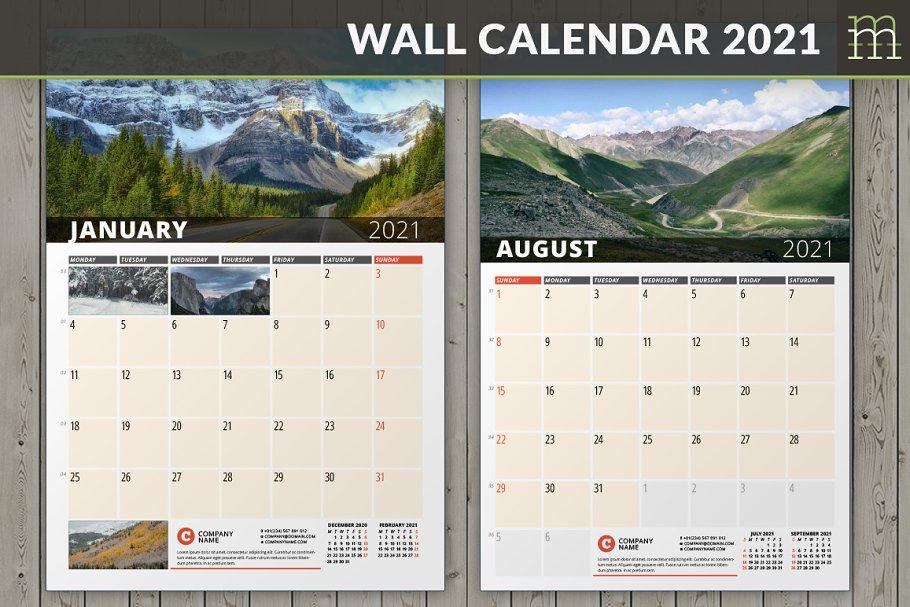 Wall Calendar 2021 (WC033-21)