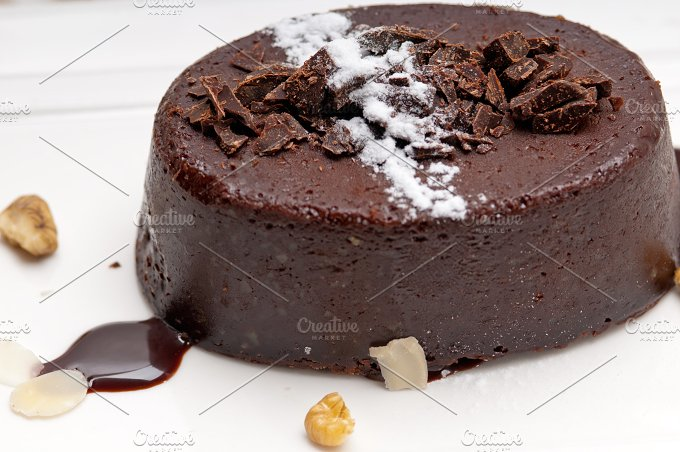 chocolate and walnuts dessert cake 08.jpg - Food & Drink