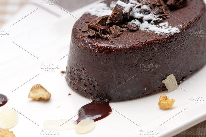 chocolate and walnuts dessert cake 02.jpg - Food & Drink