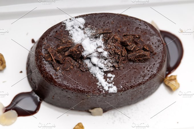 chocolate and walnuts dessert cake 09.jpg - Food & Drink