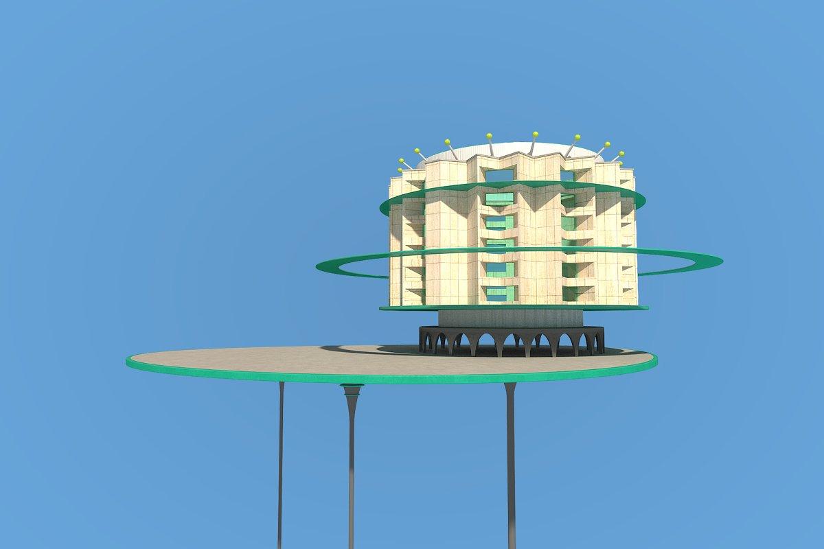 Futuristic Architecture Skyscraper 8