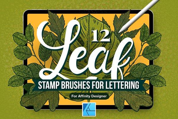 12 Leaf Affinity Stamp Brushes