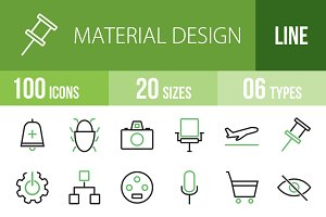 100 Material Design Green & Black