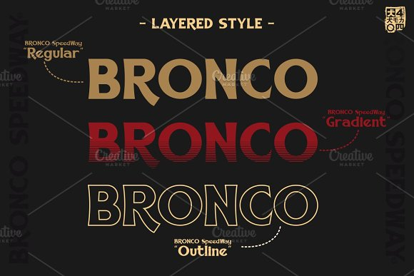 BRONCO SpeedWay in Serif Fonts - product preview 1
