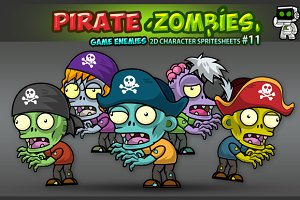 Pirates Zombies Character Sprites