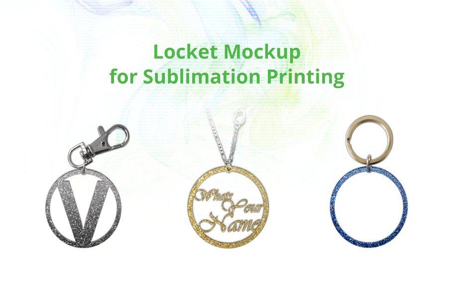 Round Locket Acrylic Mock-up