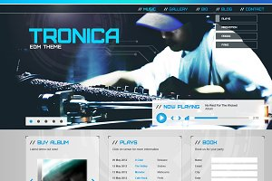 Tronica Website PSD Template