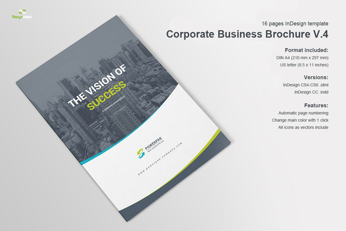 corporate business brochure v4 brochure templates creative market