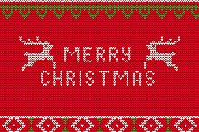 Christmas Knitted Templated