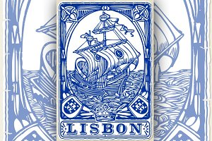 Lisbon Traditional Tiles Azulejos
