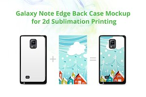 Galaxy Note Edge 2d Case Back Mockup