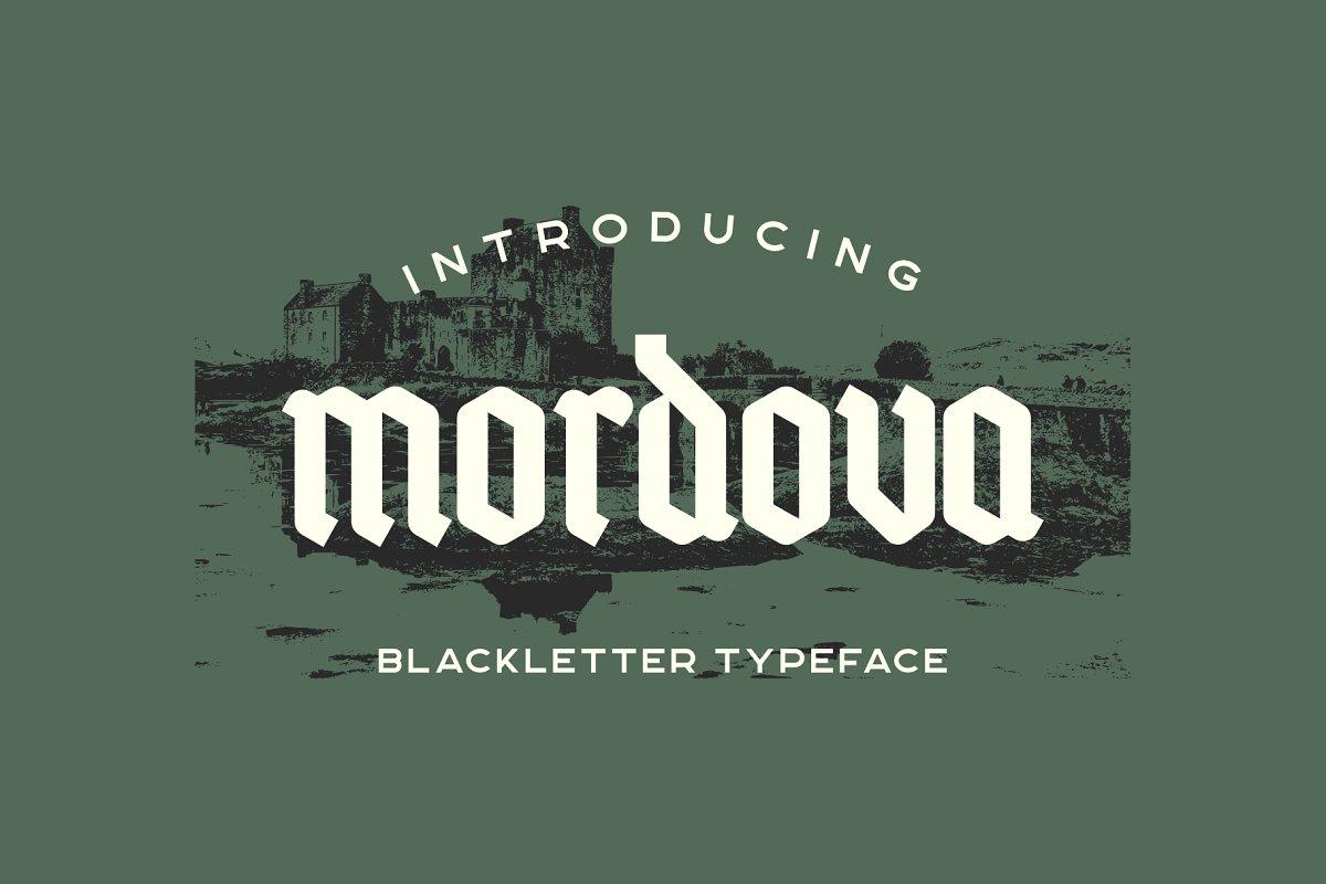 Mordova Blackletter Typeface