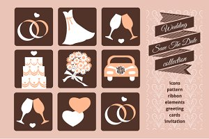 Weeding set - icons and card