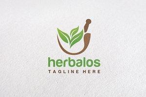 Premium Herbal Logo Concept V1