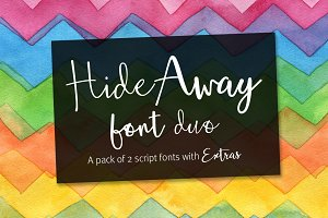 Hide Away font pair + extras