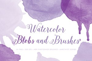 Watercolor Round Drips PS Brushes