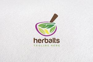 Premium Herbal Logo Concept V2