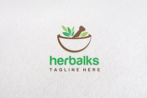 Premium Herbal Logo Concept V3