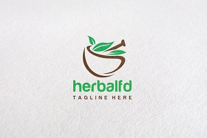 Premium Herbal Concept Logo Design