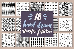 18 Hand drawn patterns