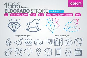 1566 Eldorado Stroke icons