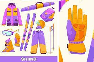 Vector skiing elements