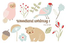 Woodland Whimsy 1 .PNG Clip Art Set