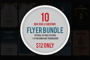 Christmas & NewYear Flyer Bundle