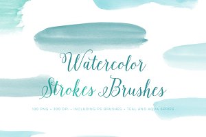 Photoshop Brushes Watercolor Set